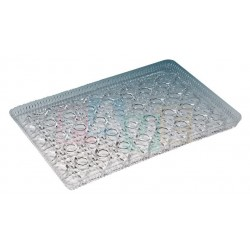 Podnos krystal  19,5x29,5 cm  plast