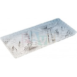 Podnos krystal obdélník  35x16x2 cm  plast