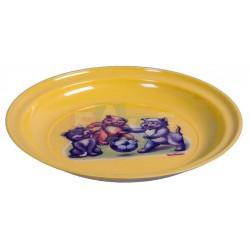 Talíř s potiskem  20x0,2 cm  plast  mix barev
