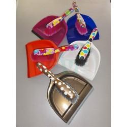 Smetáček + lopatka DECOR s gumou  33x23 26x4 cm  chlup 5 cm  plast