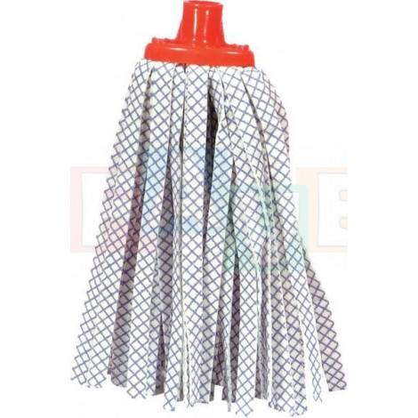 Mop páskový modro-bílý  bavlna, plast