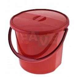 Kbelík s víkem  30,5x27 cm  12 l  plast  mix barev