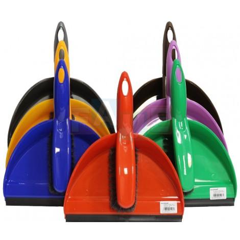 Smetáček + lopatka YAGA s gumou  31x24,5 27x3,5 cm  chlup 5 cm  plast  mix barev
