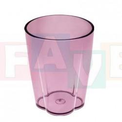 Sklenička MONO  15x9 cm   0,65 l  plast  mix barev