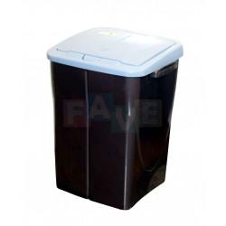 Koš na tříděný odpad modré víko  52x39x36,5 cm  45 l  plast