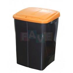 Koš na tříděný odpad oranžové víko  52x39x36,5 cm  45 l  plast