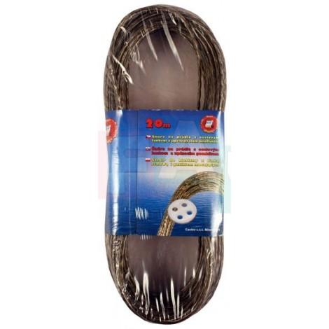 Šňůra s ocelovým lankem 20 m  21x8 cm  ocel, plast