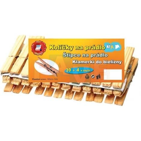 Kolíčky 24 ks  7,5x1,7 cm  dřevo