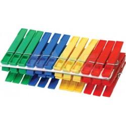 Kolíčky 24 ks  7x1,5 cm  plast