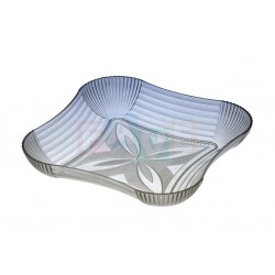 Podnos krystal čtverec  23x23 cm  plast