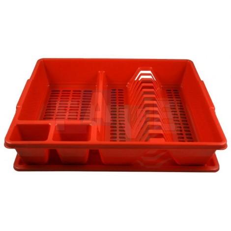 Odkapávač KLASIK na nádobí  35x43x9 cm  plast  mix barev